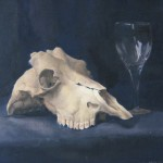 Still Life with Skull and Wine Glass